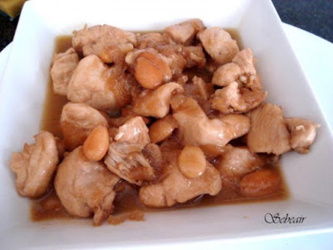 Pechugas de pollo con almendras y salsa de soja (thermomix), Receta Petitchef