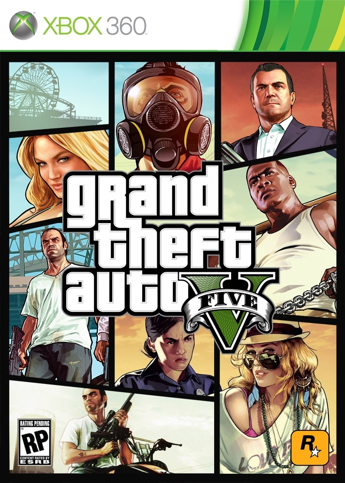 Grand Theft Auto V Custom Box Art Fan made Grand theft