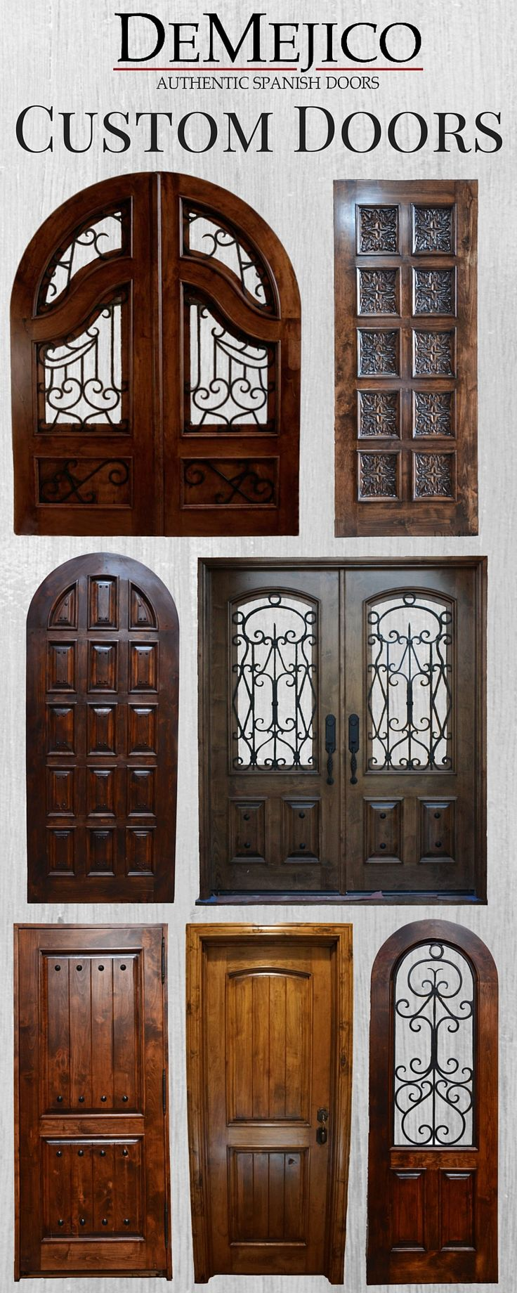 We build a unique selection of Hand Crafted doors. Come by our Showroom in Valencia, CA