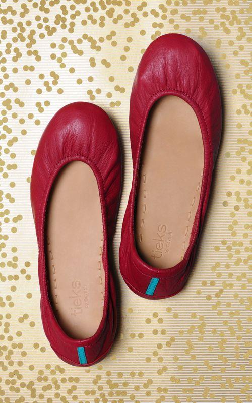 Cardinal Red | #tieks ballet flat