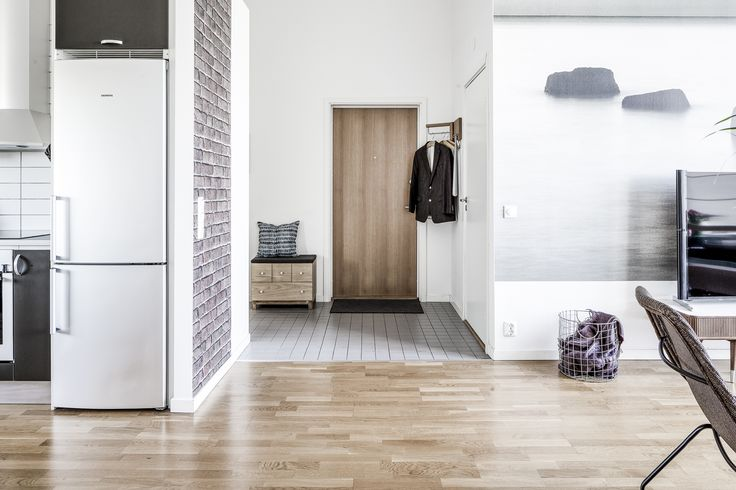Kitchen, Living room and entrance at Anders Perssonsgatan 7, Gothenburg.