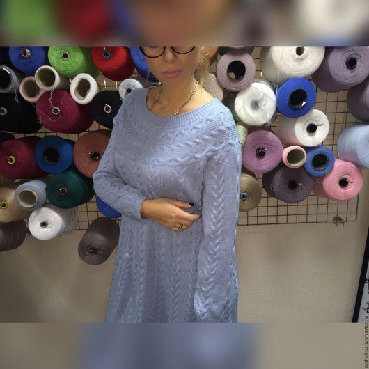 Платья ручной работы. Платье вязаное из 30% итальянской шерсти №102. oksana (Richelieu). Ярмарка Мастеров. Платье вязаное