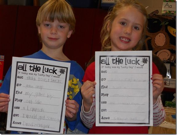 all the luck: Luck Writing, St. Patrick'S Day, School Ideas, 1St Grades, Writing Ideas, Activities, Bumgardner S 1St, St Patrick'S Day, St Patricks