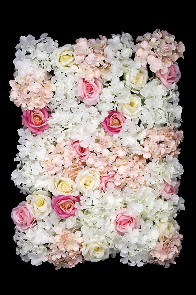 Hydrangea Rose Flower Wall Panel 44 Head Flower Wall Artificial Flowers And Plants Hydrangea Flower
