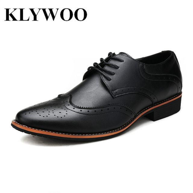 Check current price KLYWOO New Brogue Oxford Shoes For Men Dress Shoes Microfiber Leather Office Shoes Men Formal Shoes Zapatos Hombre Mens Oxfords just only $29.99 with free shipping worldwide  #menshoes Plese click on picture to see our special price for you