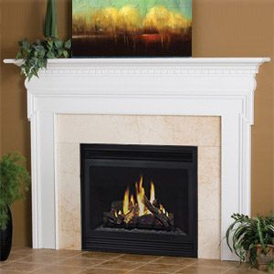 Newport   Traditional Wood   Fireplace Mantels Surrounds   MantelsDirect.com