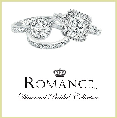 Romance Diamond Bridal Collection - Celebrate your timeless love with the perfect engagement ring from the Romance Diamond Bridal Collection. The Romance designers pay relentless attention to every detail to ensure the beauty and quality of every diamond masterpiece. Nothing surpasses the beauty of a Romance diamond ring... except for the bride who wears it!