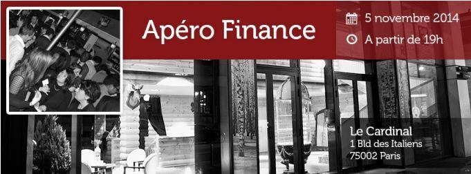 Apéro Finance de novembre, organisé par Dogfinance