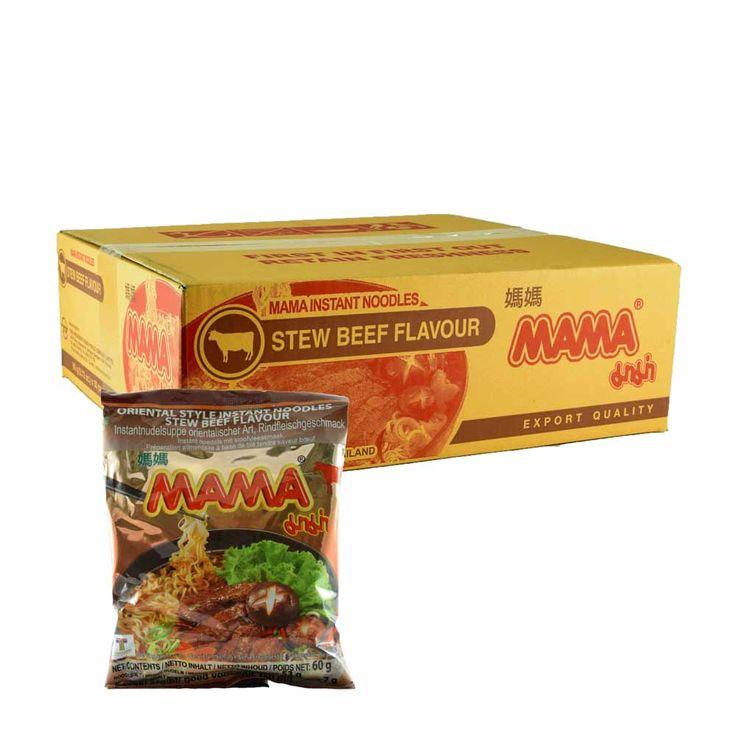 Mama Noodle Stew Beef 30x60g  Description: Mama Noodle Stew Beef 30x60g  Price: 8.50  Meer informatie  #AmazingOriental #food