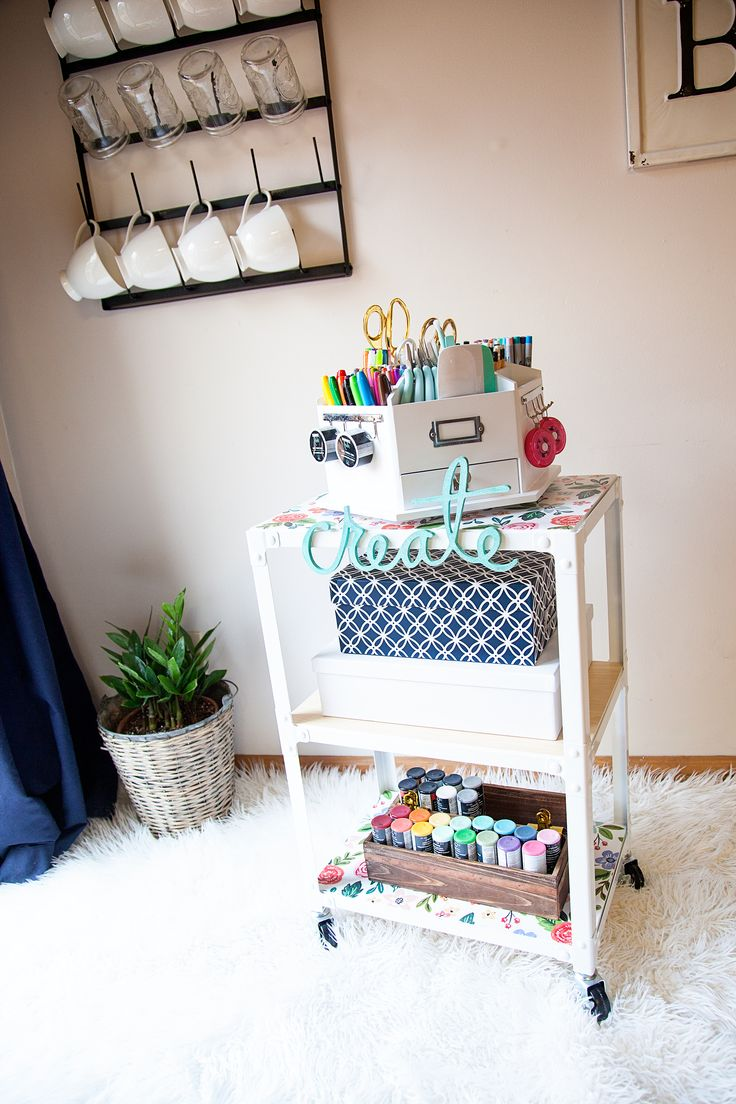 Michaels craft room furniture - Diy Creative Station For The Family