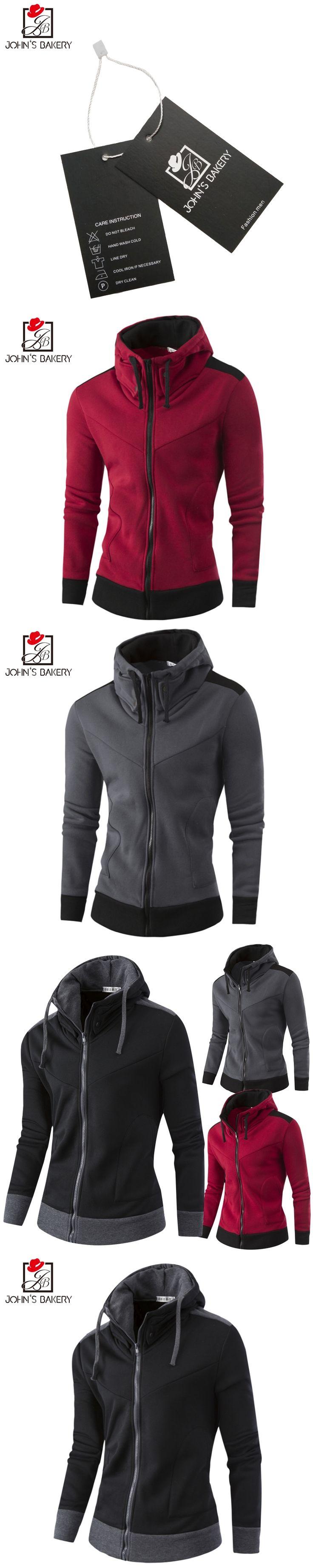 2017 New Mens Hoodies and Sweatshirts Zipper Hooded Sweatshirts Male Clothing Fashion Military Hoody For Men Hit color Hoodies X