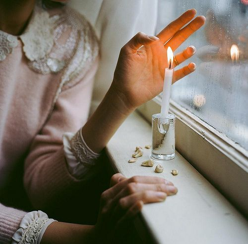 *: Candles Glow, Candles Lights, Girls, Pink Lace, Lace Sweaters, Rose Jones, Hailey Rose, Winter Window, Photography Ideas