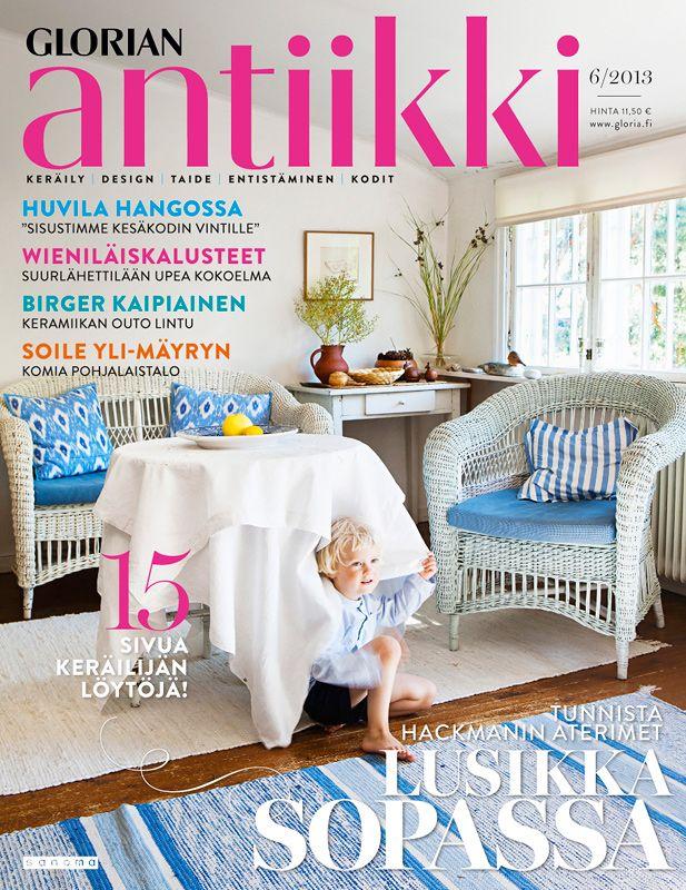 Magazine cover 6/2013. Summer cottage in Hanko, Finland. Photo Piia Arnould.