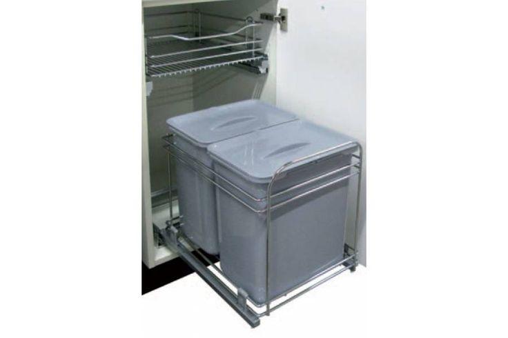 Poubelle coulissante 32 litres - Accessoires de cuisines