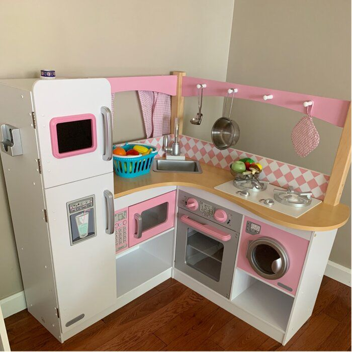 Grand Gourmet Corner Kitchen Set Girls Kitchen Set Kitchen Sets Kids Play Kitchen