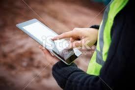 Image result for construction worker  digital tablet