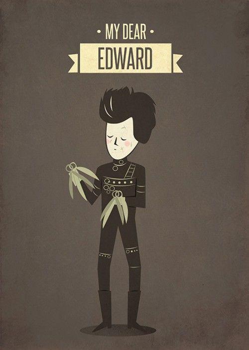 Poster Edward Mãos de Tesoura