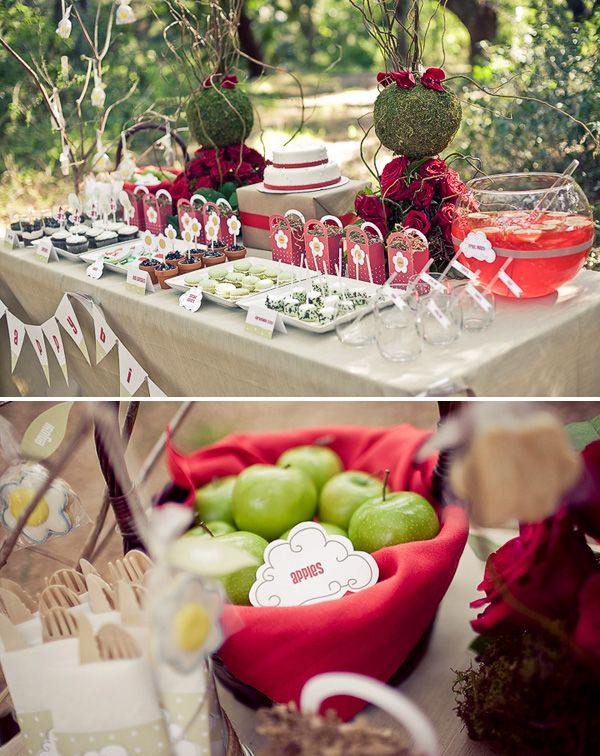 littleredridinghood_birthdayparty_1: Shower Ideas, Little Red, Food Tables, Birthday Parties, Red Riding Hoods, Parties Ideas, Birthday Party Ideas, Desserts Tables, Parties Food