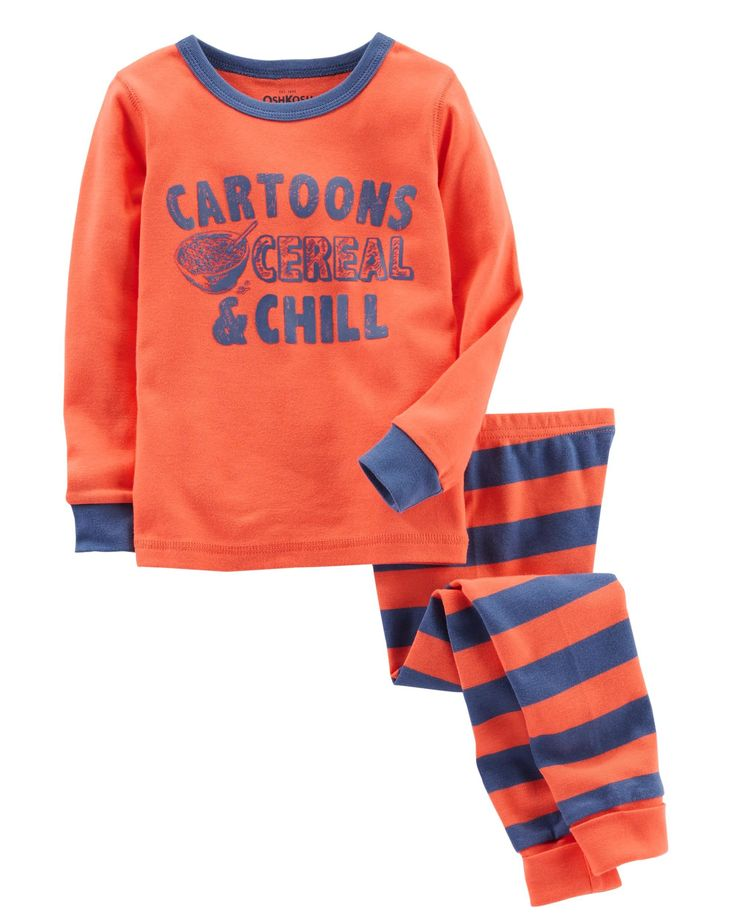 Toddler Boy 2-Piece Snug Fit Cotton PJs | OshKosh.com