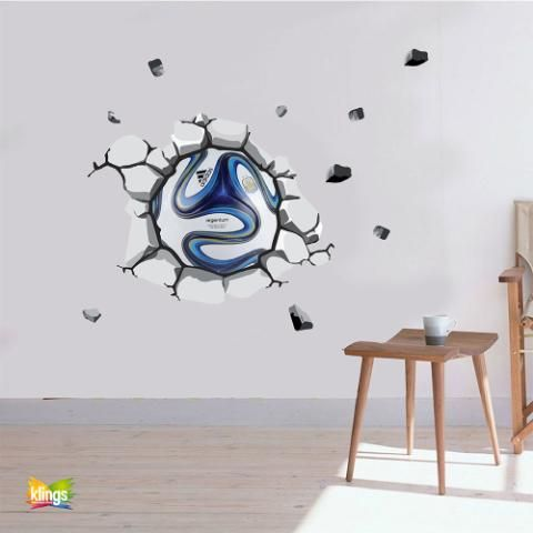 Vinilos decorativos ball futbol pelota de futbol que for Stickers decorativos de pared