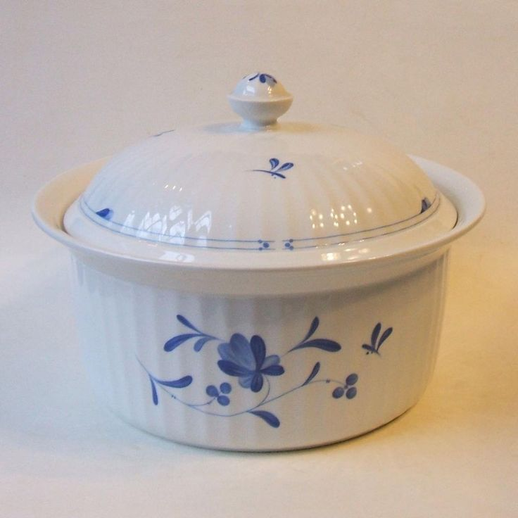 Royal Worcester England Blue Bow Oven to Table Large Covered Casserole Dish #RoyalWorcesterEnglandOventoTable