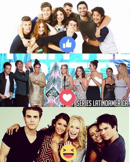 Yaass, Pretty Little Liars and The Vampire Diaries are the besttt