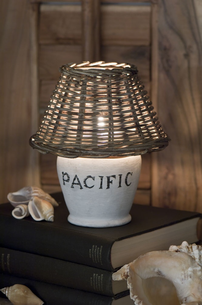 Candle holder or an idea for a painted lamp base!