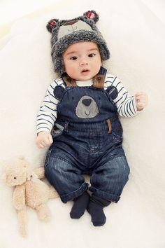 Newborn Clothing - Baby Clothes and Infantwear - Next Bear Denim Dungarees - EziBuy Australia