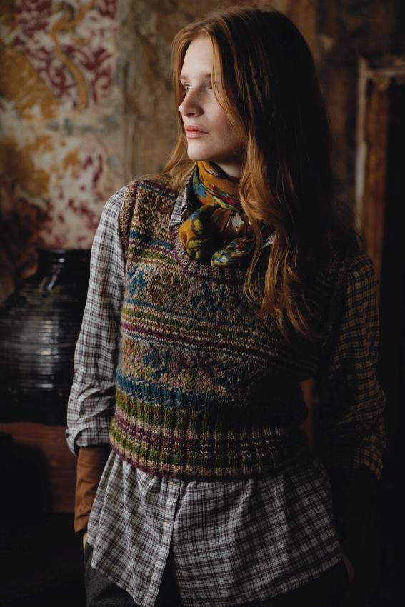 Wonderful woolly Fairisle tank tops can ooze with oodles of classic English country folk fashion, not just for grandad. Mag 54