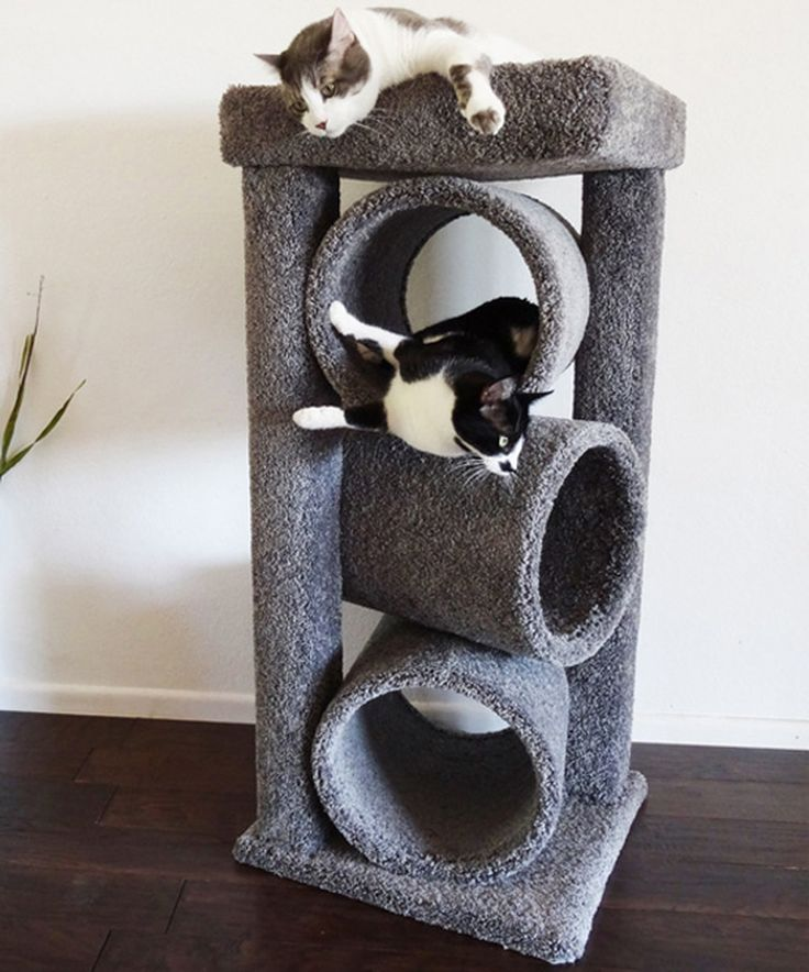 Another great find on #zulily! Gray Premier Triple-Tunnel Cat Condo by New Cat Condos #zulilyfinds