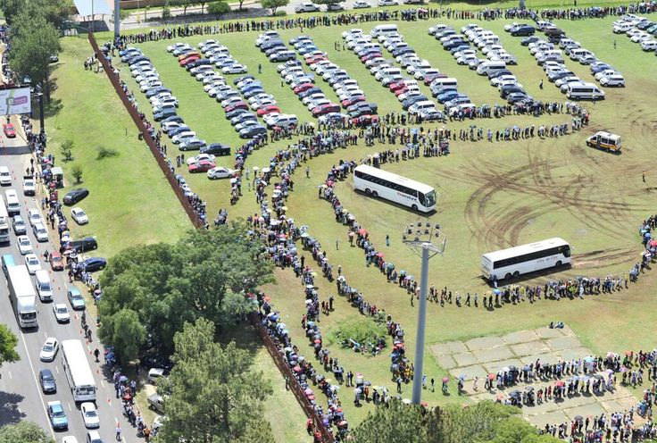 Take a bow South Africa...#Mandela park and ride to see #Mandela