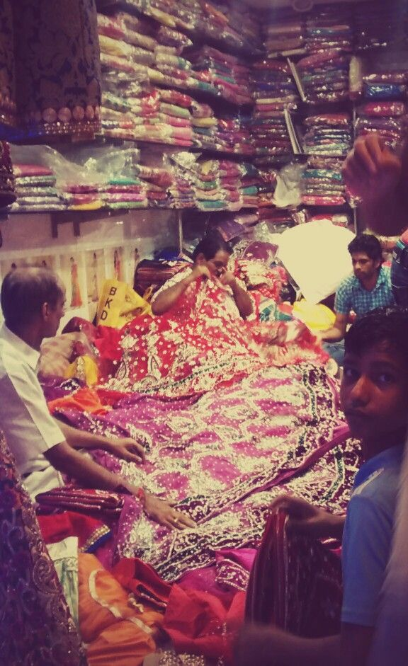 A riot of colour. Chandni Chowk, Old Delhi. Photo by Sophie Handa.