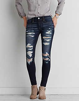 AEO Denim X4 Jegging, Darkest Dazzler | American Eagle Outfitters