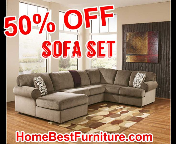 50 PERCENT OFF Discount Jessa Place 3-Piece Ashley Furniture Sectional Sofa | Home Decor Inspiration | Pinterest | Sectional sofa and Percents  sc 1 st  Pinterest : ashley furniture jessa sectional - Sectionals, Sofas & Couches