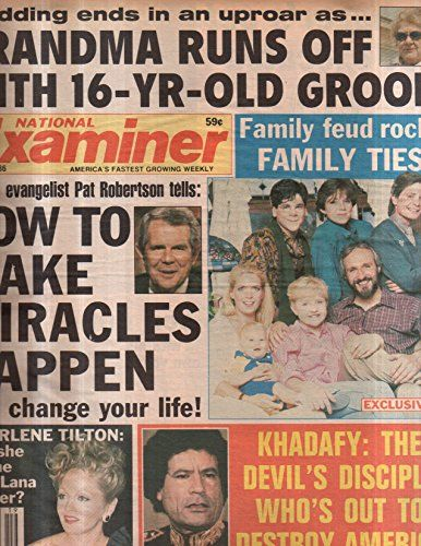 National Examiner 1986 May 13 Family Feud rocks Family Ties,Charlene Tilton,