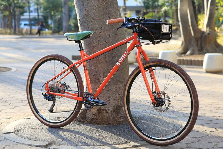 https://flic.kr/p/mZsmD5 | *SURLY* troll complete bike | *SURLY* troll complete bike BLUE LUG custom  SPEC Frame: *SURLY* troll Wheels: *SURLY* × *ALEXRIMS* Tire: *FAIRWEATHER* for cruise tire (brown/skin) Brake lever:*AVID* Brake:  *AVID* Handle: *SURLY* open bar (black) Saddle:*BROOKS* b17 Bascket:*PDW* takeout bascket