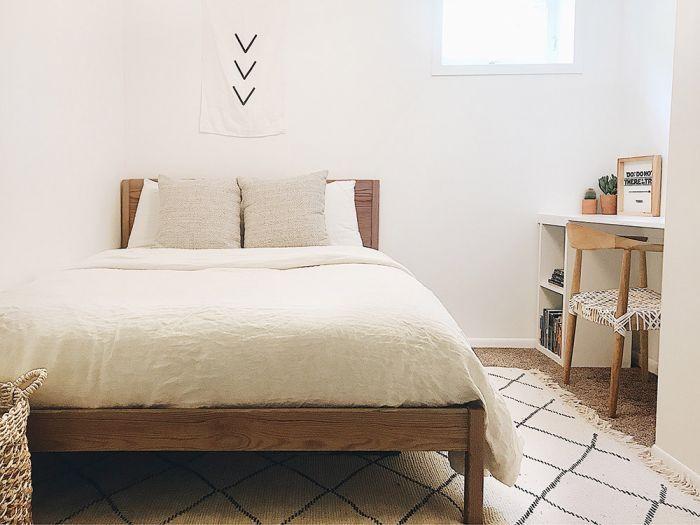 The Tenor Timber Ridge Natural Bed Frame Walnut Choose Size In 2020 Bed Frame Wood Platform Bed Minimalist Bedroom