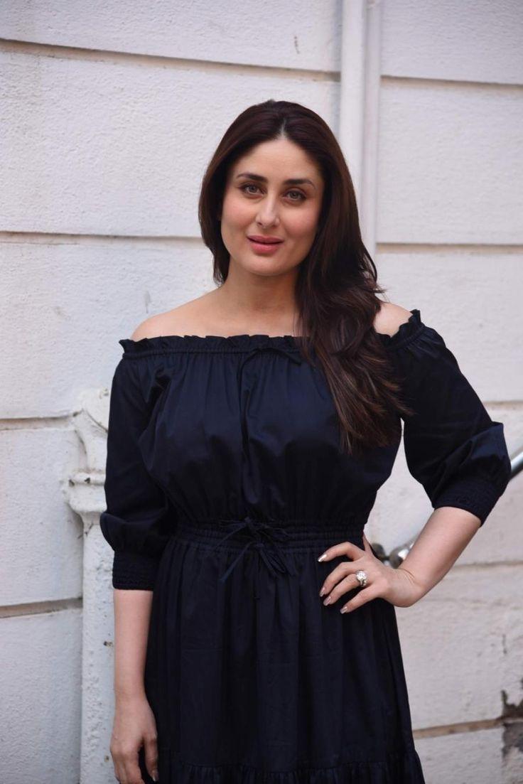 Kareena Kapoor Photoshoot In Long Hair Blue Dress