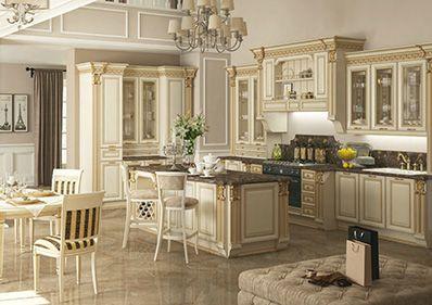 Vzorky kuchyň. Klasický styl.