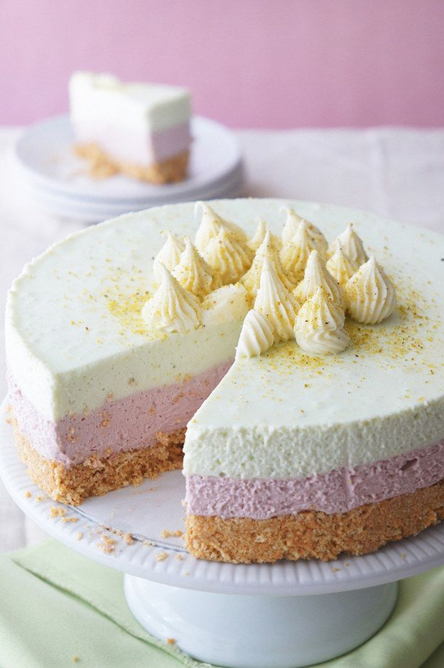 Cherry & Pistachio No-Bake Cheesecake | 21 Easy And Delicious No-Bake Cheesecakes