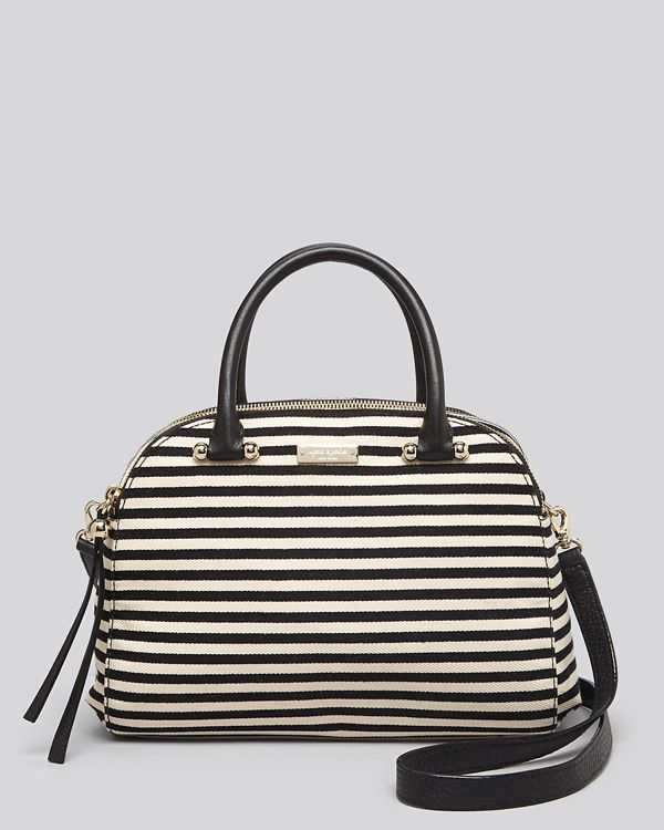 kate spade new york Satchel - Charles Street Striped Kenton Double Zip Dome