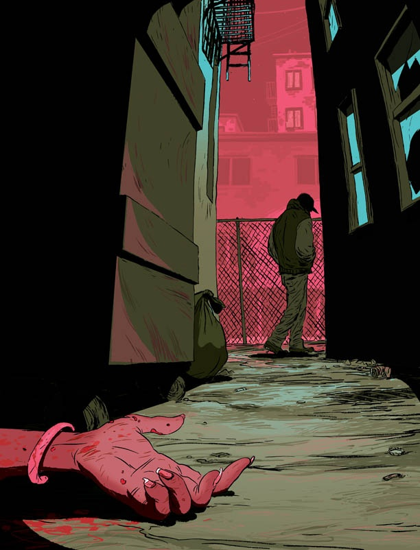 Frank Stockton Illustration: MURDERED