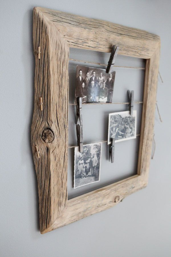 Reclaimed Farm Wood Photo Display 11x14 by IvarsDesign on Etsy, $75.00