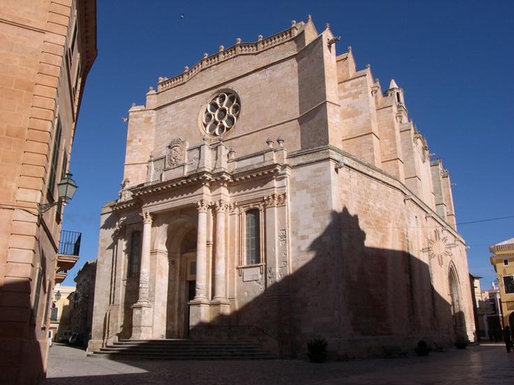14th century Gothic cathedral in the center of Ciutadella de Menorca.