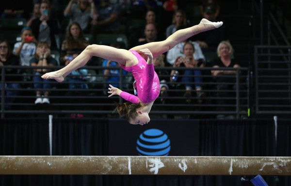 Ragan Smith Photos Photos - Ragan Smith competes on the balance beam during Day 3 of the 2016 Pacific Rim Gymnastics Championships at Xfinity Arena on April 10, 2016 in Everett, Washington. - 2016 Pacific Rim Gymnastics Championships - Day 3