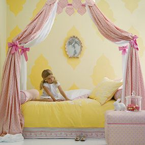 Yellow paired with pink is stunning! #toddler: Ideas, Girls Bedrooms, Lilies, Princesses Rooms, Big Girls Rooms, Little Girls Rooms, Canopies Beds, Kids Rooms, Girl Rooms