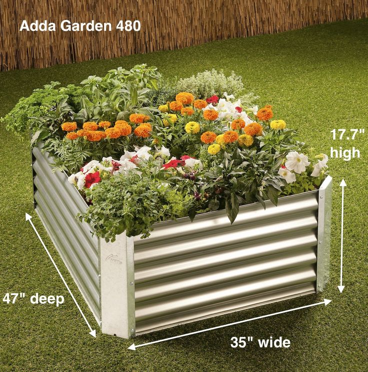 Adda Garden 480:  Ideal for large backyards and deep enough to grow a full range of vegetables.
