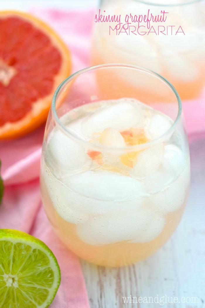 This Skinny Grapefruit Margarita is the perfect amount of sweet and delicious, but only about 120 calories!