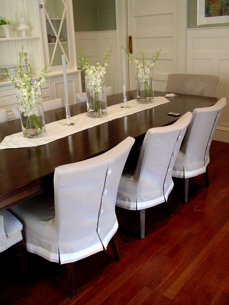 Dining Room Chair Skirts best 25+ dining room chair covers ideas on pinterest | chair