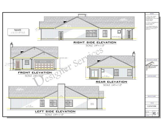 The Willow Lane Ii House Plan Etsy House Plans New House Plans House Floor Plans